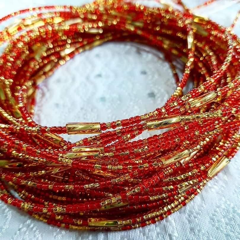 Royal Red Waist Beads