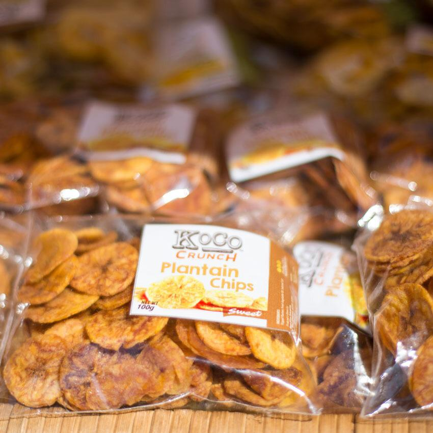 Koco Crunch Plantain Chips. (Sweet)