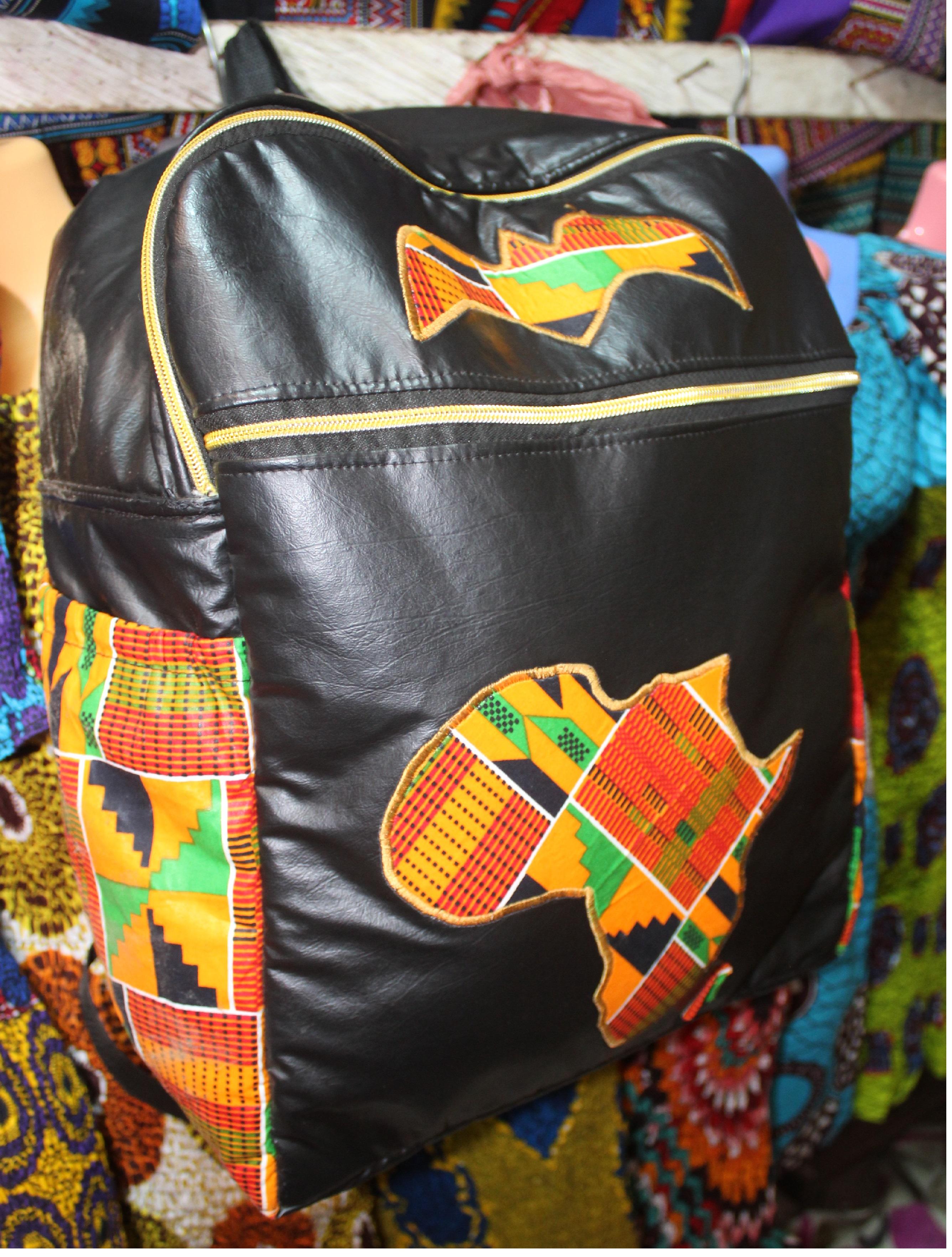African Bag – Leather & Kente